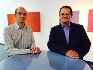 Frédéric Le Dinahet (gauche) et Evangelos Papadopoulos (droite) Crédit photo TheMarketsTrust